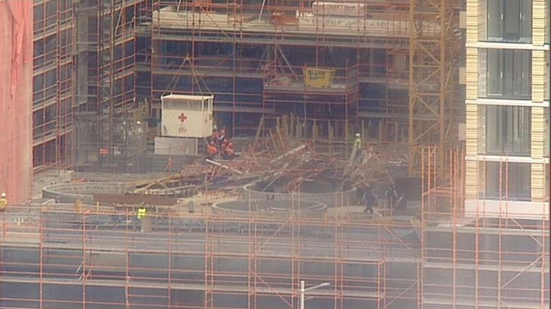 Scaffolding collapse on North Sydney construction site 1 april 2019