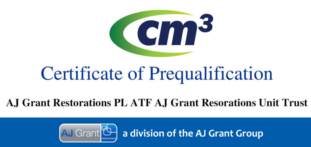 AJ Grant Restorations Cm3 prequalification